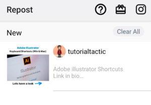 Open Repost for Instagram App
