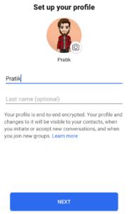 Signal App - Setup your Profile
