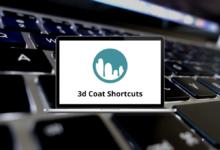 3d Coat Shortcuts for Win & Mac