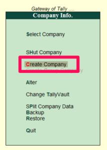 Create a Company Tally