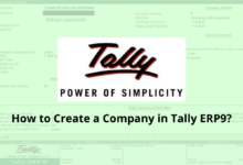 How to create a company in tally ERP9