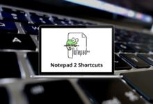 Notepad 2 Shortcuts