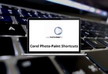 Corel Photo-Paint Shortcuts