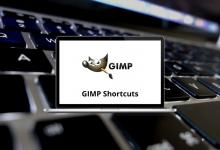 GIMP Shortcuts for Windows & Mac