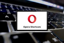 Opera Shortcuts for Windows & Mac