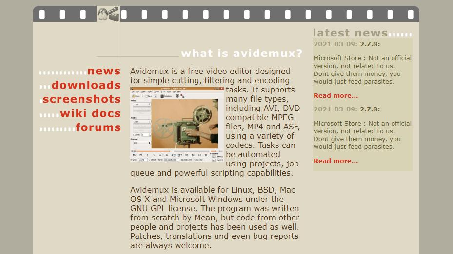 Avidemux Video Editor alternatives