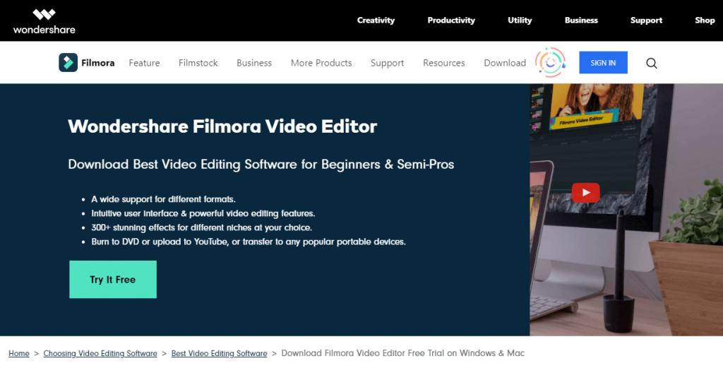 Filmora Video Editor Software