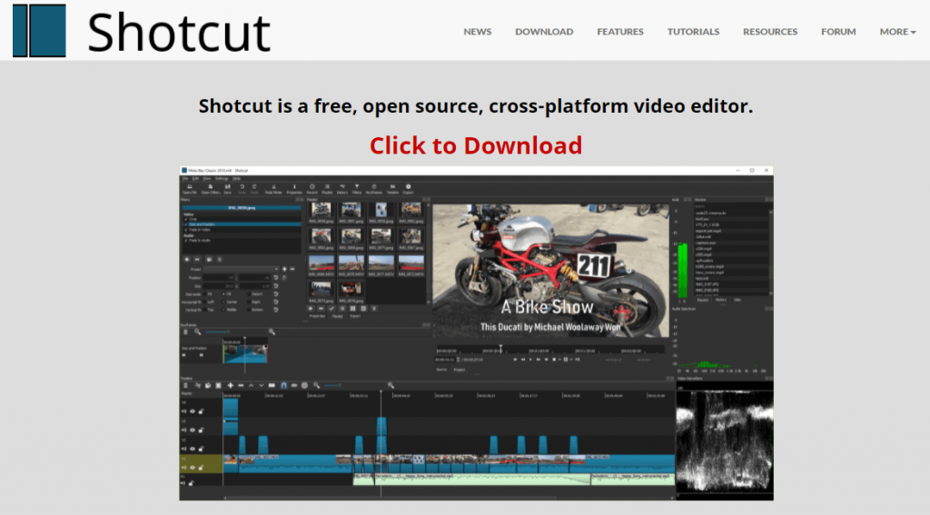 Shotcut_Alternatives to Windows Movie Maker