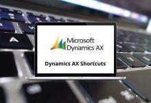 Dynamics AX Shortcuts