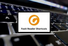 Foxit Reader Shortcuts