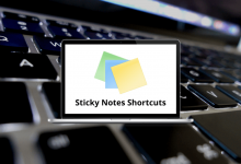 Sticky Notes Shortcuts