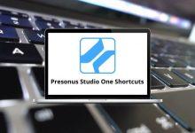 Presonus Studio One Shortcuts