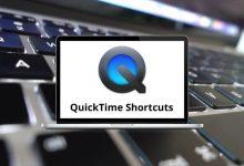 QuickTime Shortcuts