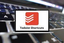 Todoist Shortcuts