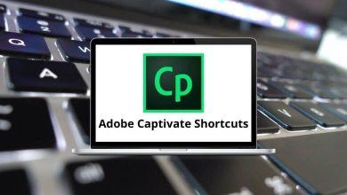 Adobe Captivate Shortcuts for Windows & Mac