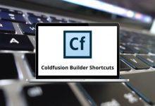 Adobe Coldfusion Builder Shortcuts