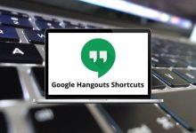 Google Hangouts Shortcuts