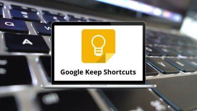 Google Keep Shortcuts