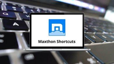 Maxthon Shortcuts
