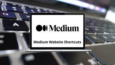 Medium Website Shortcuts