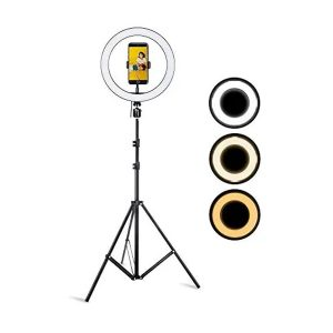 10 inch LED Ring Light with 9 feet Tripod Stand for Mobile Phones & Camera
