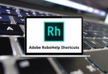 Adobe RoboHelp Shortcuts