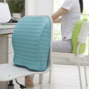Backrest Cushion with Memory Foam for Study, Home, Office chair & Sofa with Lumbar Support