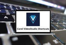 Corel VideoStudio Shortcuts