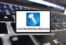 Corel WordPerfect Shortcuts